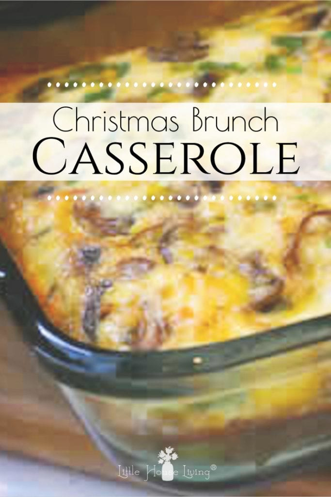 How to make an easy and hearty Christmas Brunch Casserole. It comes together in a few minutes and can be made the night before, perfect for Christmas day! #brunch #christmasbrunchcasserole #christmasmorning #brunchrecipes #easybreakfast #makeahead #brunchideas