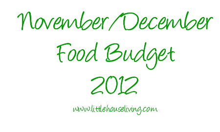 Post image for November/December 2012 Food Budget