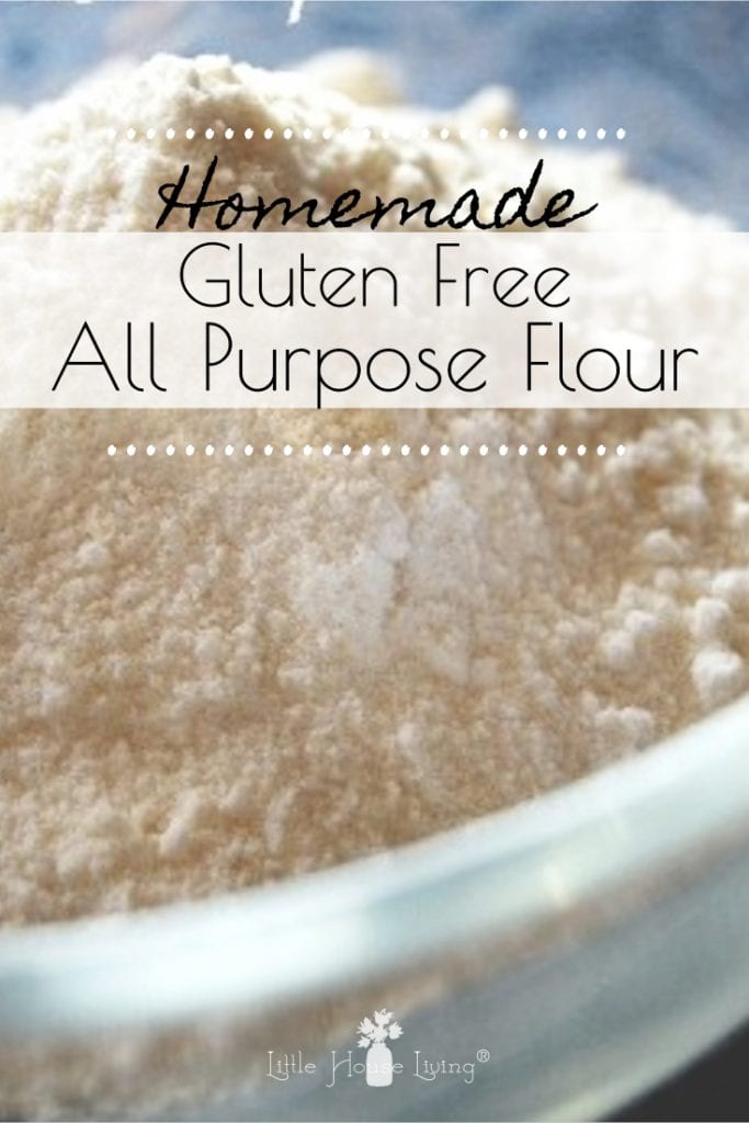 How to make your own Gluten Free All Purpose Flour. An easy and inexpensive recipe for substitution to make your favorite recipes gluten free. #glutenfree #diyglutenfreeflour #glutenfreeflour #makeyourown
