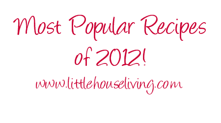 Post image for Most Popular Recipes of 2012
