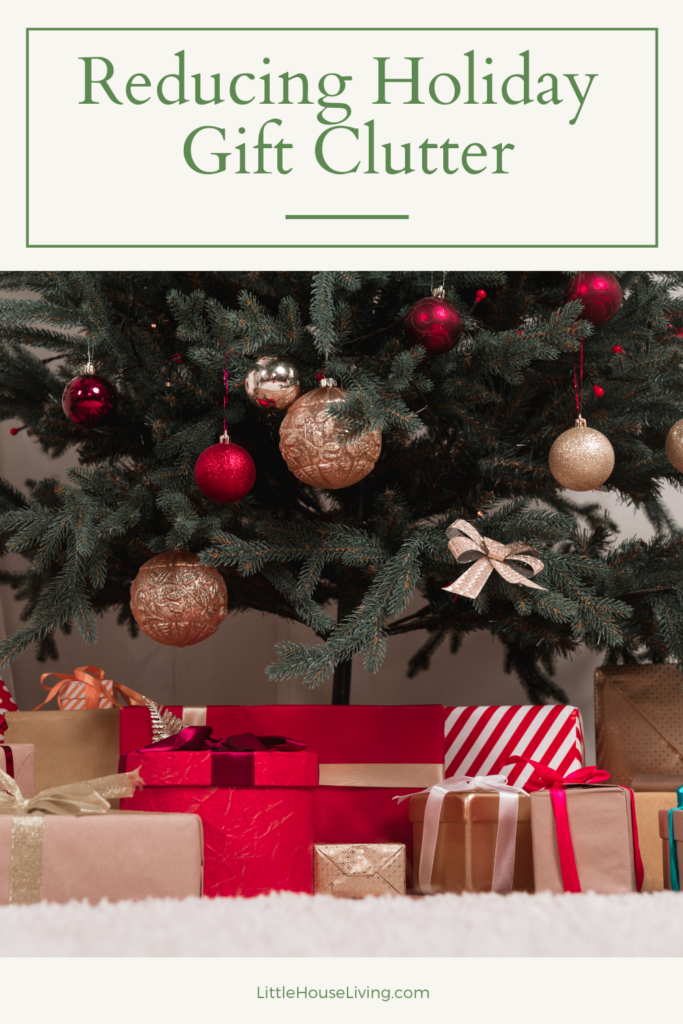 Are you finding that you have way too many things and clutter now that the holidays are over? Here are some simple ideas for reducing holiday gift clutter.