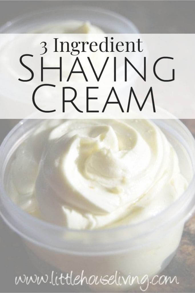 Have you ever wanted to make your own shaving cream? It can be done with just 3 ingredients and this easy Homemade Shaving Cream Recipe! #easyhomemadeshavingcream #shavingcream #diyshavingcream