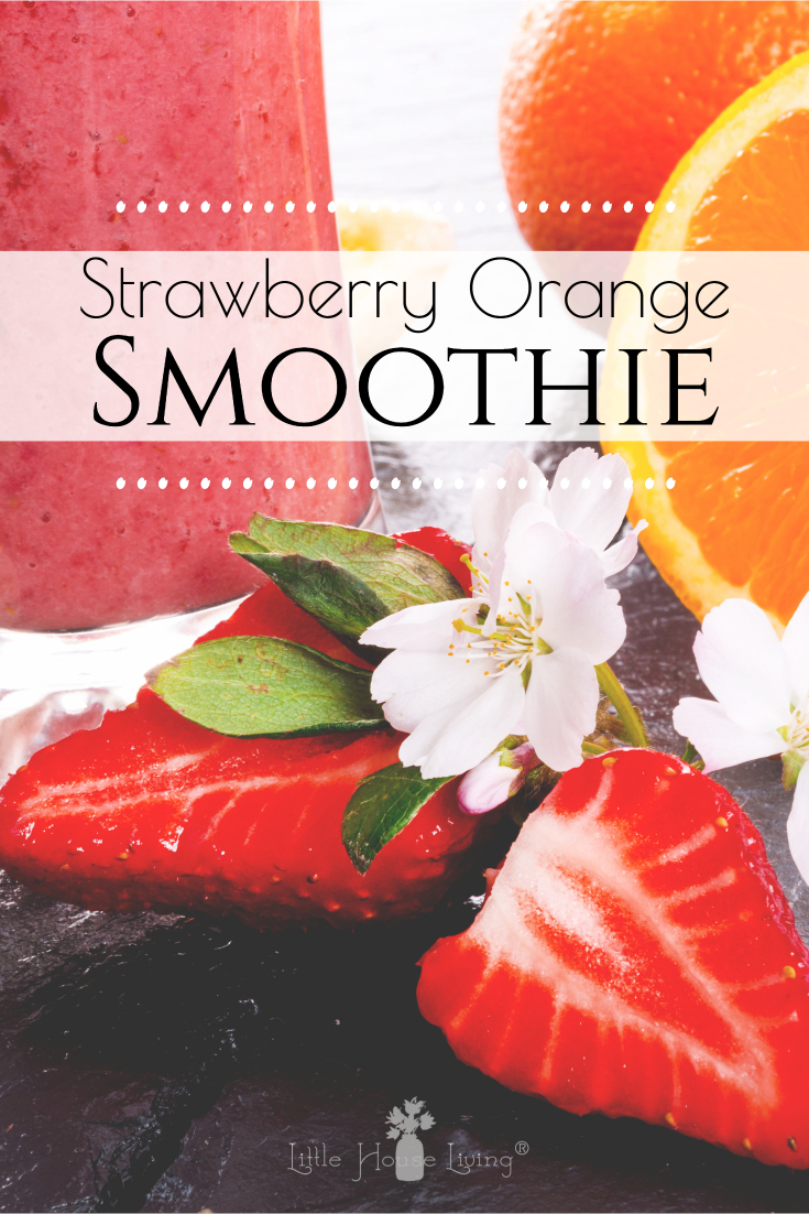 All of your favorite flavor combinations come together in this delicious and easy Strawberry Banana Orange Julius Smoothie Recipe, perfect for breakfast on the go this summer! #smoothie #breakfast #healthysmoothie #strawberrybanana #orangejulius