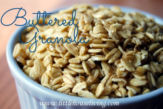 Post image for Homemade Granola Recipe (Buttered Granola)
