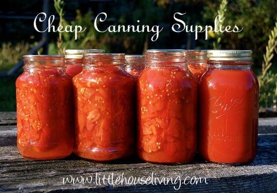 Cheap Canning Supplies