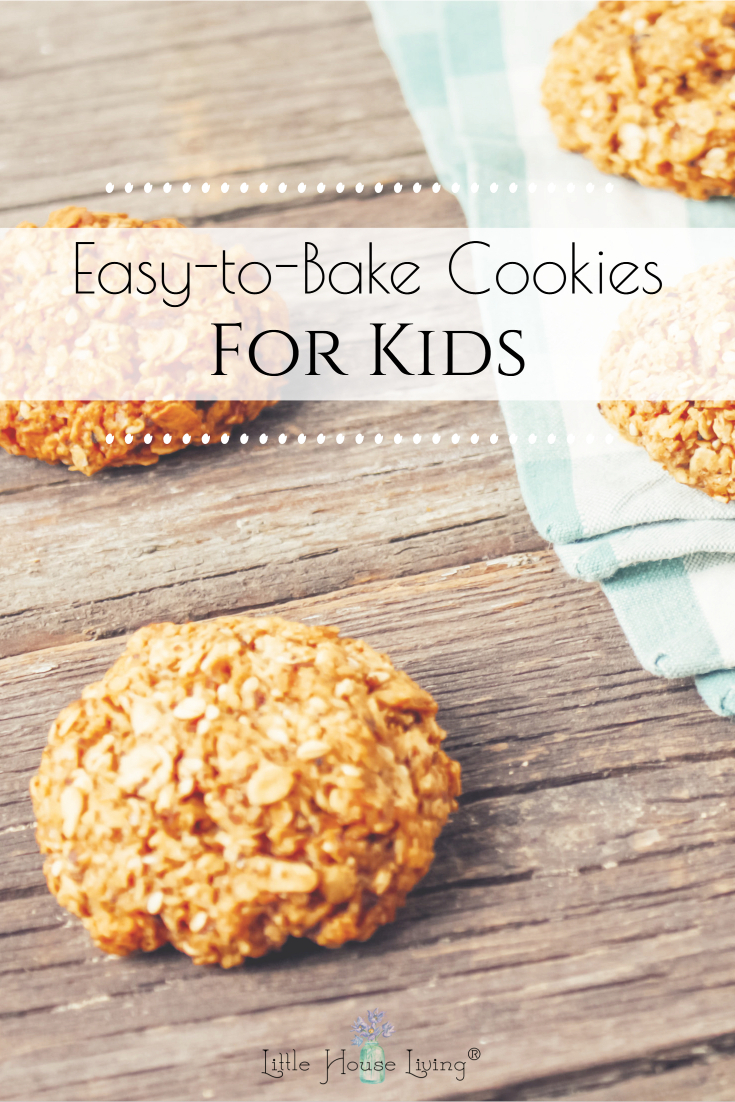 These Oatmeal Goodies are an easy cookie recipe for kids, perfect for when school is out! Everyone can help make them and messes are kept to a minimum! #cookies #cookingwithkids #allergenfriendly #nutfree #glutenfree