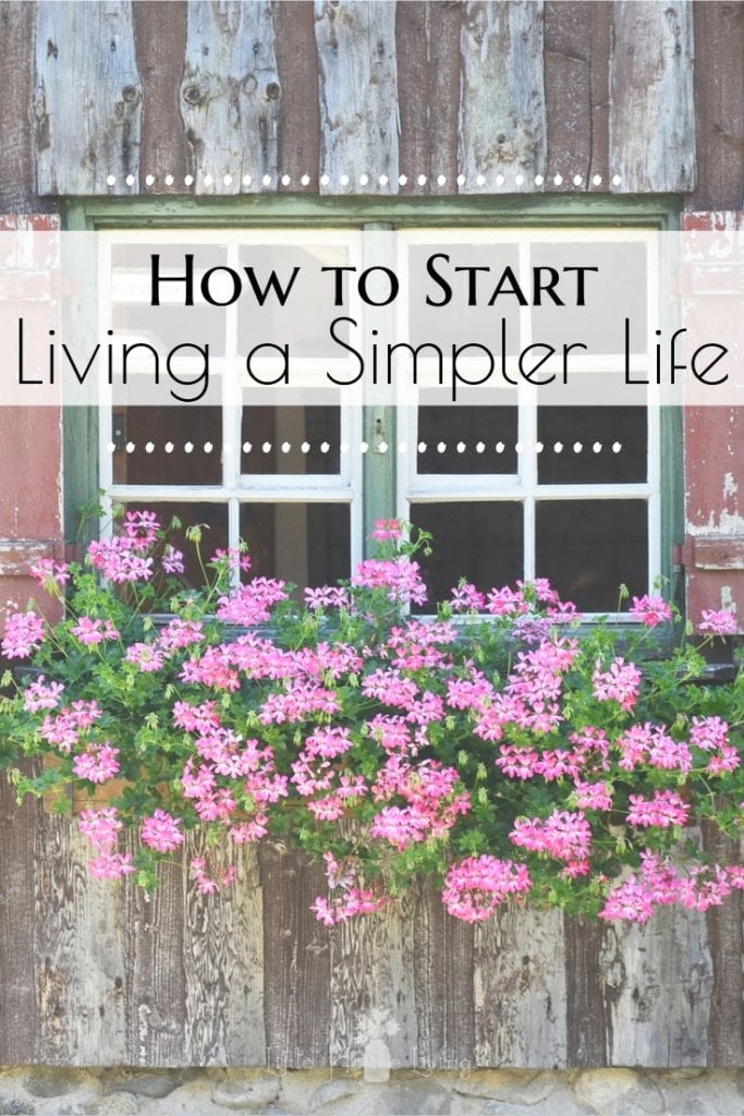Are you trying to start living a more simple life but things seem to keep steamrolling and you never seem to be able to get your bearings back? Here are some ideas on how to get back on track. #simplerlife #simplelife #simpleliving