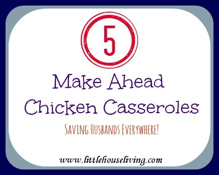 Post image for Make Ahead Chicken Casserole (5 Different Recipes!)