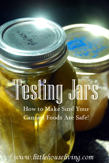 Post image for Testing Jar Seals And Reprocessing Jars (Safe Home Canning)