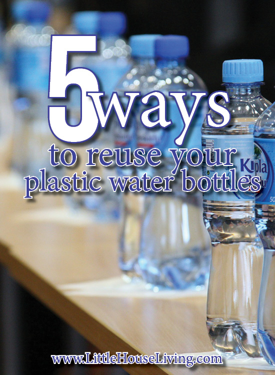 Have some plastic water bottles laying around? Here are 5 ways to reuse your plastic water bottles so they don't end up in the trash!