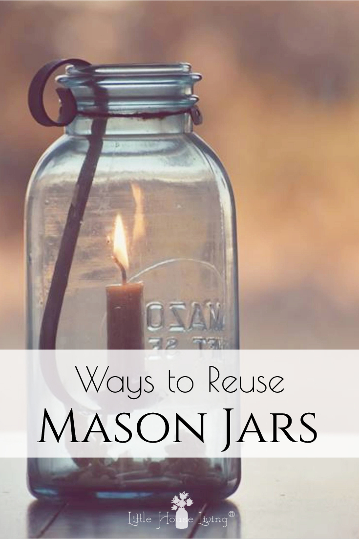 You don't have to be a canner to love mason jars. Here are some creative ways to reuse mason jars around your home that anyone can enjoy. #masonjar #canningjar #upcycle #repurpose #canningjarlids #masonjarlids
