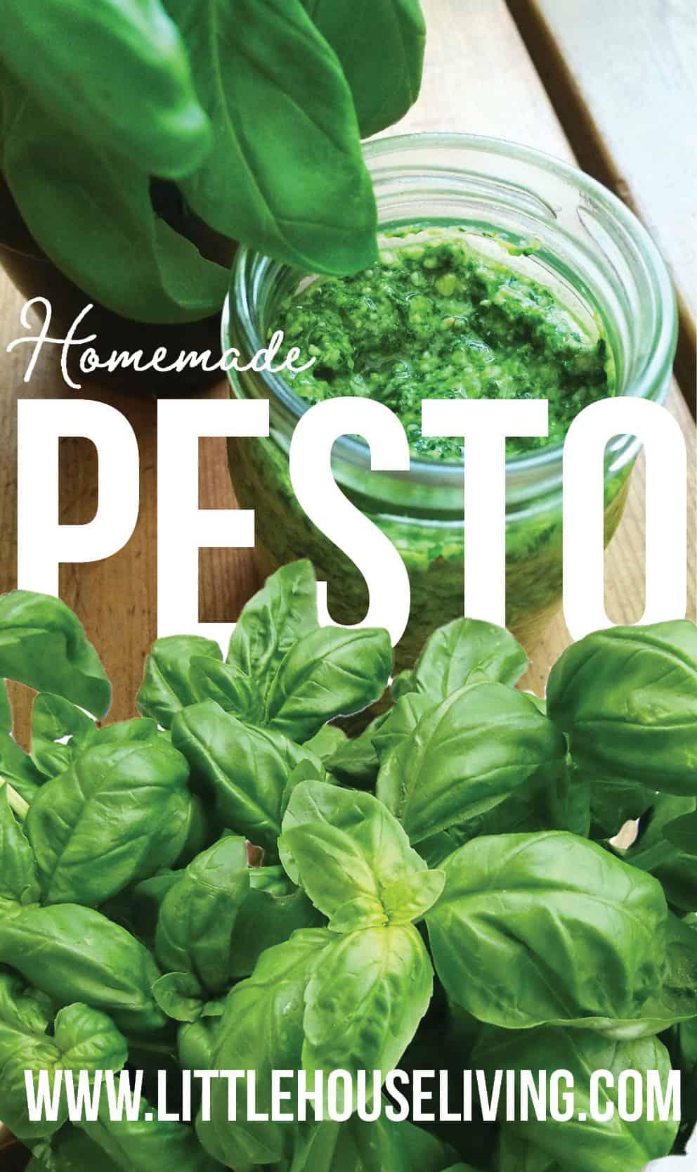 Delicious homemade Pesto recipe you can easily make at home! #pesto #homemadepesto #pestorecipe