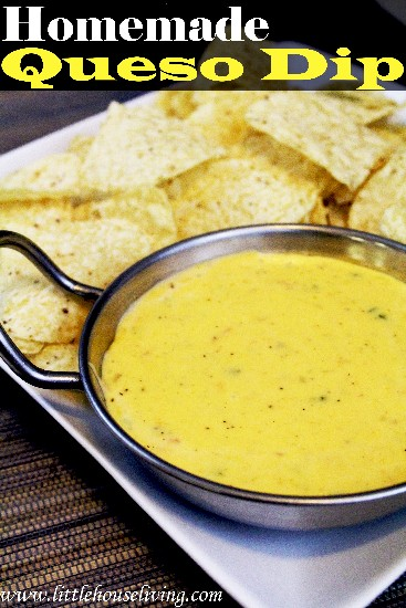 Homemade Queso Dip - Little House Living
