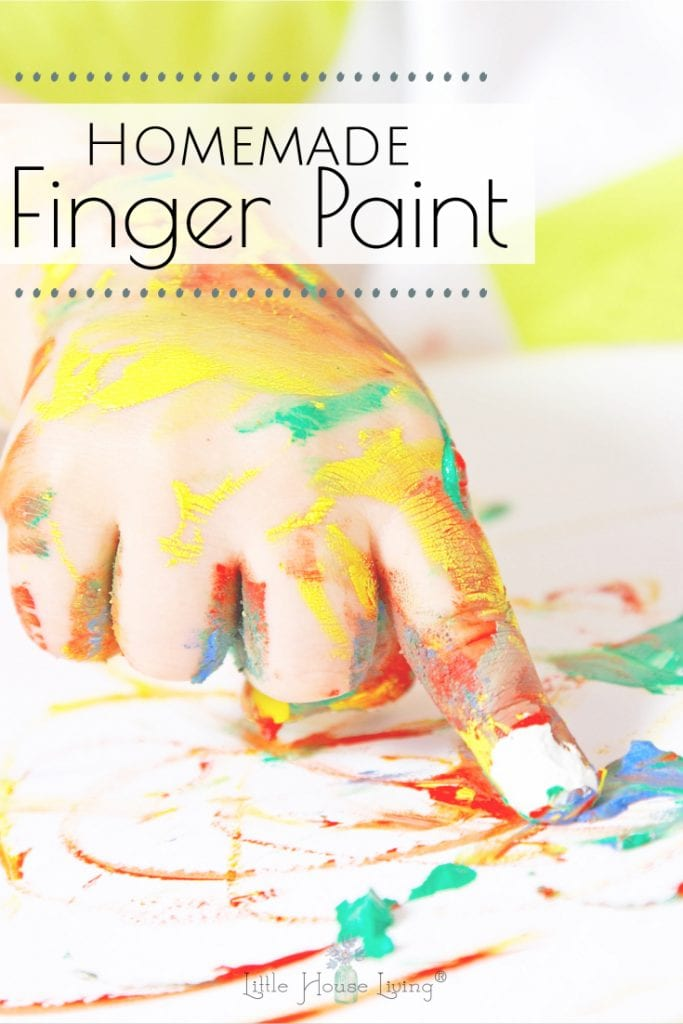 Looking for a fun activity to enjoy with the kids? Learn how to make this simple and frugal Homemade Finger paint with all natural ingredients. #frugalkidscrafts #fingerpaint #homemadefingerpaint #diyfingerpaint