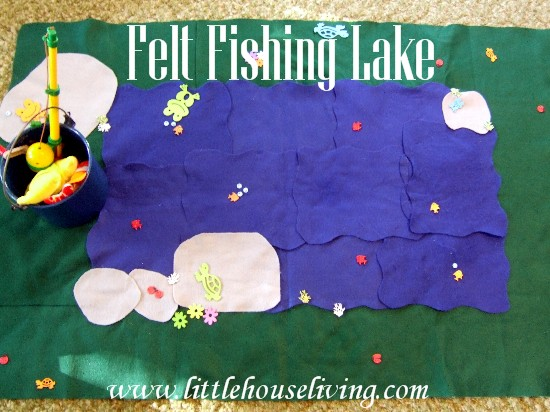 Post image for Simple Homemade Gifts: Child's Felt Fishing Lake