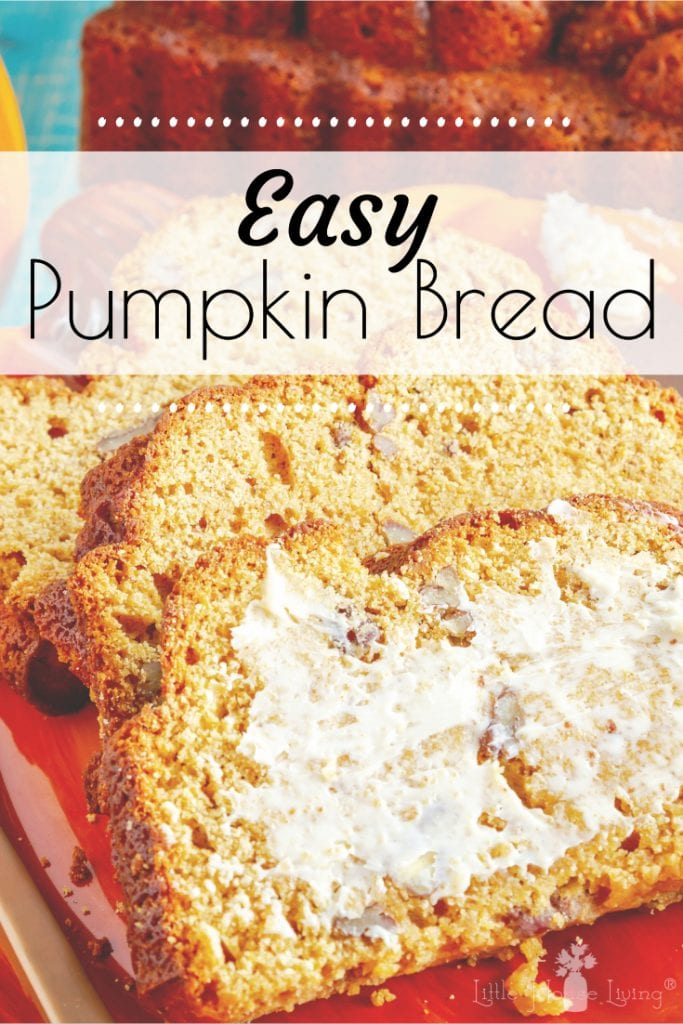 Looking for a deliciously easy and moist Pumpkin Bread recipe to make this fall? This one is going to be your new favorite! #pumpkinbread #easypumpkinbread #pumpkinbreadrecipe #pumpkinrecipes