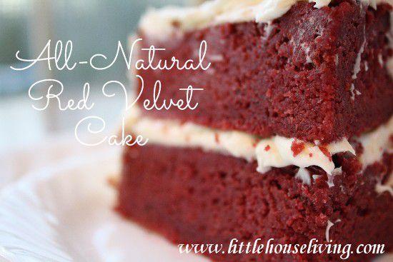 All Natural Recipe for Red Velvet Cake