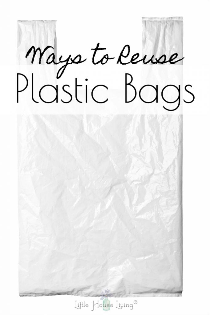 Do you have plastic bags taking up space in your home and don't want to just toss them out? There are so many ways to reuse your plastic bags and today I'm happy to share them with you! #plasticbags #reusebags #recycleplastic