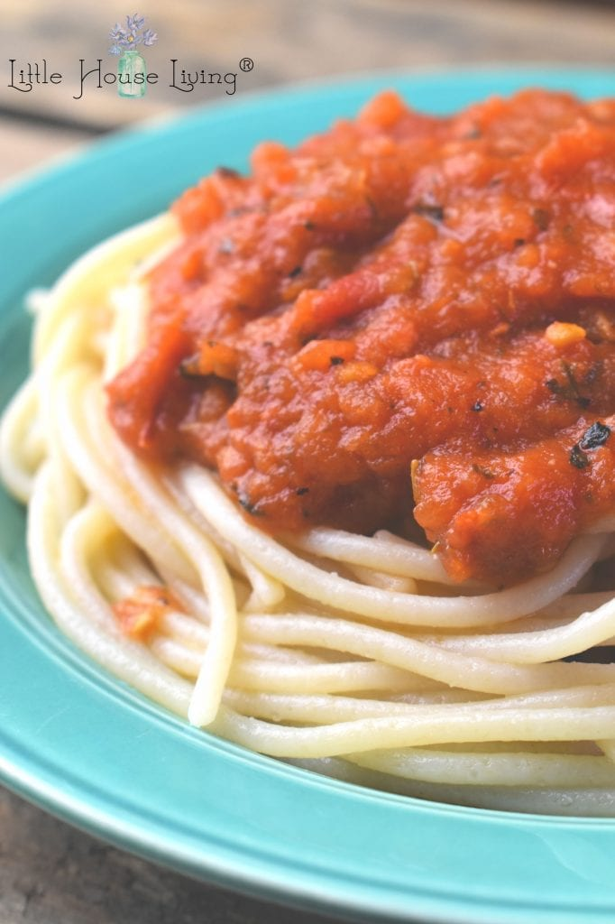 Looking for a wonderful, flavorful meal? This Spaghetti Sauce recipe uses fresh tomatoes and will be a hit for the whole family! #spaghettisauce #spaghettisaucefromscratch #easyspaghettisauce #homemadesauce #homemadespaghetti