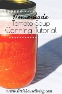 Canning Tomato Soup is a great way to put away a delicious tomato soup that's just as convenient as store-bought but much more flavorful! #tomatosoup #canningandpreserving #canningtomatosoup #homemadetomatosoup