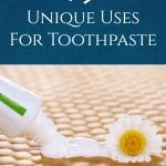 Want to use your little tube of toothpaste in your bathroom for so much more? Here are 15 uniques uses for this cream around your home! #toothpaste #usesfortoothpaste #makethemost