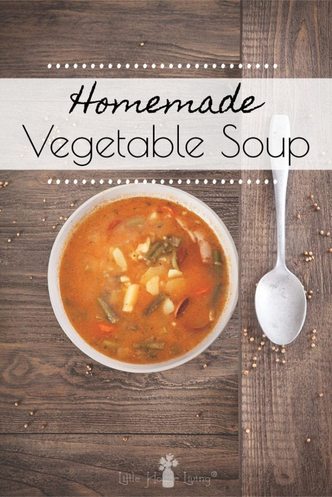 This delicious Homemade vegetable soup is packed with healthy vegetables, making it a delicious, easy soup you can make and enjoy all year round. #vegetablesoup #gardenvegetablesoup #homemadesoup #crockpotrecipes #slowcookerrecipes