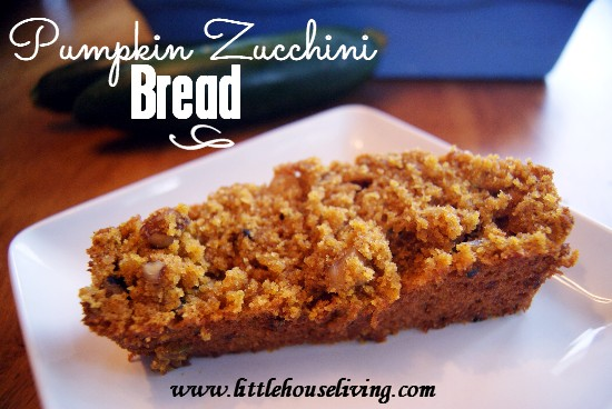 This easy Pumpkin Zucchini Bread recipe is perfect for fall! It's full of delicious pumpkin spice flavor and a great way to use up the last of the zucchini from your summer garden! #pumpkinrecipes #zucchinirecipes #pumpkinzucchini #breadrecipes #quickbreadrecipe