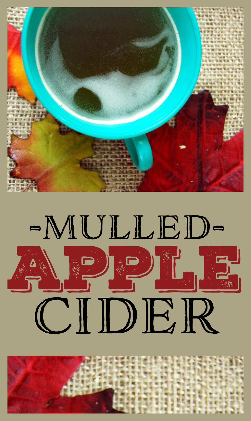 Enjoy the tastes of the fall season with some homemade Mulled Apple Cider! #applecider #mulledcider #mulledapplecider #homemadecider