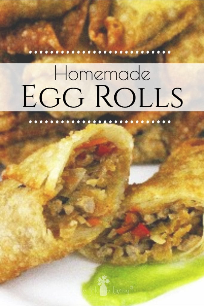 How to make delicious from scratch Homemade Egg Rolls. These egg rolls can be fried or baked and are delicious either way! #homemadeeggrolls #eggrolls #dinner #fromscratch #eggrollsfromscratch