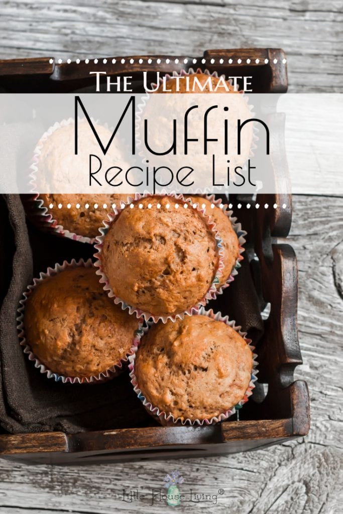 Need some recipe inspiration? Here is a HUGE list of healthy Muffin recipes that you have to try! #healthymuffins #muffinrecipes #fromscratch #muffins #recipes
