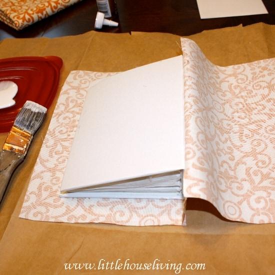 fabric covered photo album