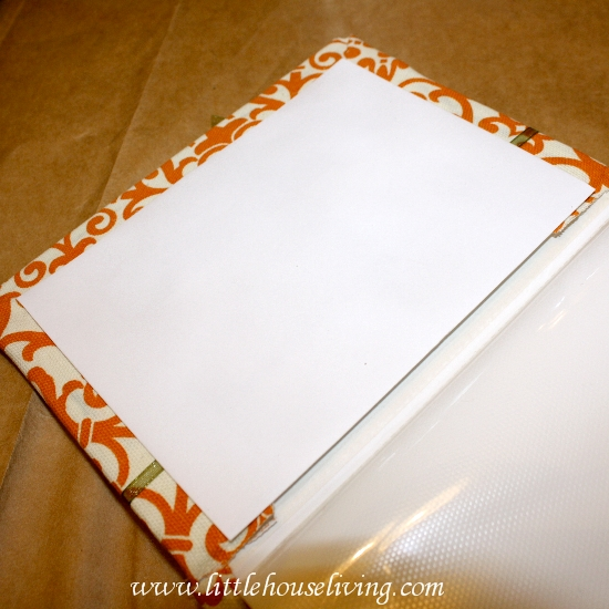 fabric covered photo album