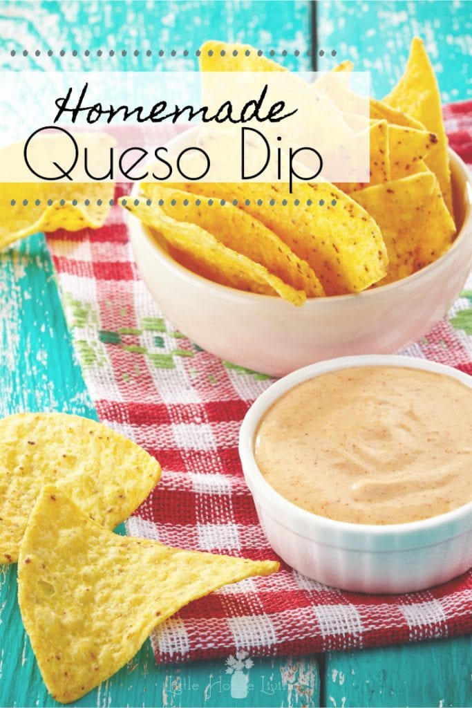Do you love queso and chips? Enjoy them guilt-free with this Homemade Queso Dip made from scratch with fresh ingredients and no processed products! #homemadequeso #chipsanddip #chipsandqueso #madefromscratch #glutenfree #noprocessedfoods #homemadequesodip