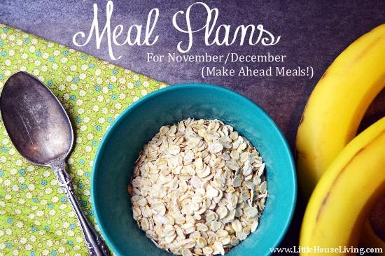 November/December Once a Month Freezer Cooking & Food Budgeting