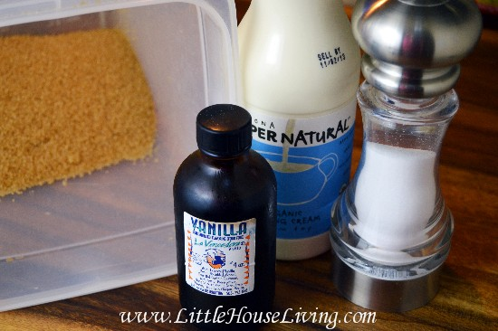 Easy Homemade Caramels Recipe Ingredients