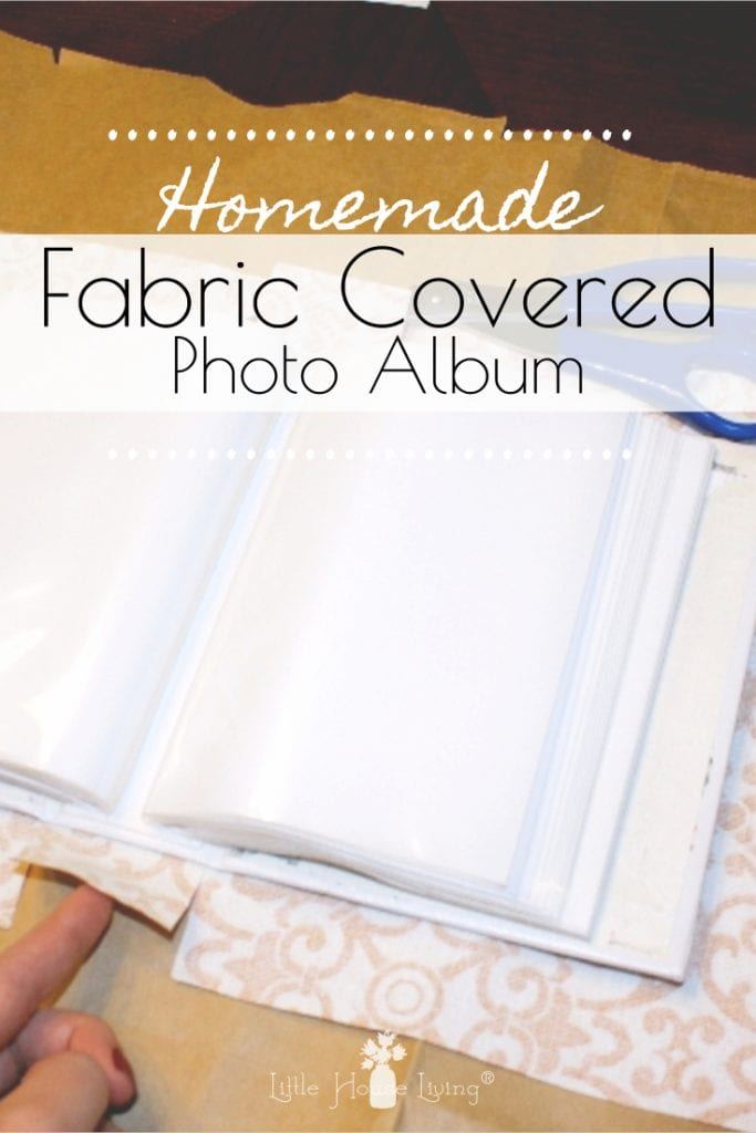 Looking for easy, homemade gift ideas? This easy picture tutorial on How to Cover a Photo Album with Fabric makes a very personal and sweet gift that your friends and family will enjoy for years to come! #handmadegifts #simpleChristmas #Christmasgiftideas #frugalChristmas #coveredphotoalbum #DIYphotoalbum