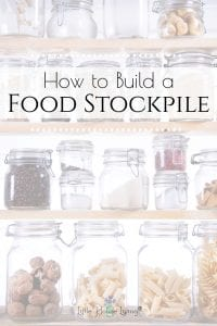 Looking to create a food stockpile? Here is a list to help you gather up real foods so that you can build your stockpile as quickly and as frugally as possible.#stockpile #realfoodsstockpile #beprepared #foodstostockpile #prepper #foodstockpile