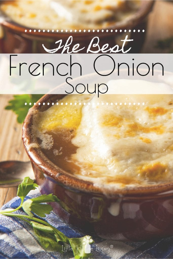 Are you on the hunt for the Best French Onion Soup Recipe? Look no further, this delicious made from scratch recipe topped with homemade focaccia bread will be your new favorite! #frenchonionsoup #fromscratch #souprecipes #frenchonion #homemadefrenchonion