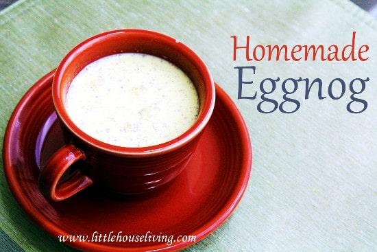 Homemade Egg Nog - Little House Living