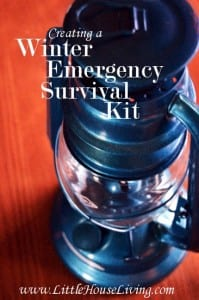 Winter Emergency Survival Kit