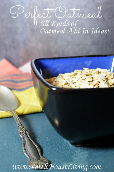 How to Make Perfect Oatmeal: Add In Ideas! - Little House Living