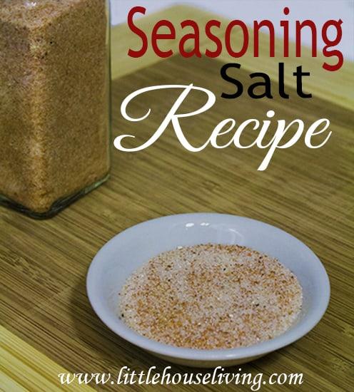From Scratch Seasoning Salt Recipe