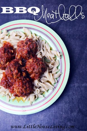 Crock Pot BBQ Meatballs - Little House Living