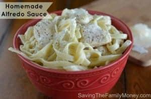 Homemade Alfredo Sauce by Saving the Family Money