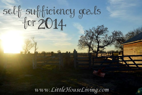 Self Sufficiency Goals for 2014 - Little House Living