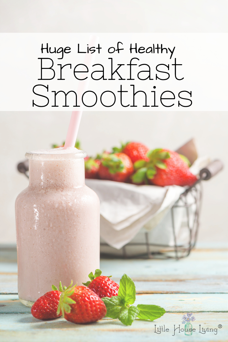 Healthy Breakfast Smoothies that are perfect for a quick snack or breakfast! SO many recipes here to choose from and they all look good! #healthysmoothies #smoothierecipes #healthybreakfasts #healthybreakfastsmoothies