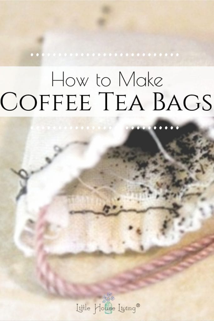Coffee Tea Bags are an easy and frugal way to make a single-serve cup of coffee. Learn how to make your own to save money and reduce waste. #coffee #morningcup #homemadecoffeeteabags #coffeeteabags #singleserve