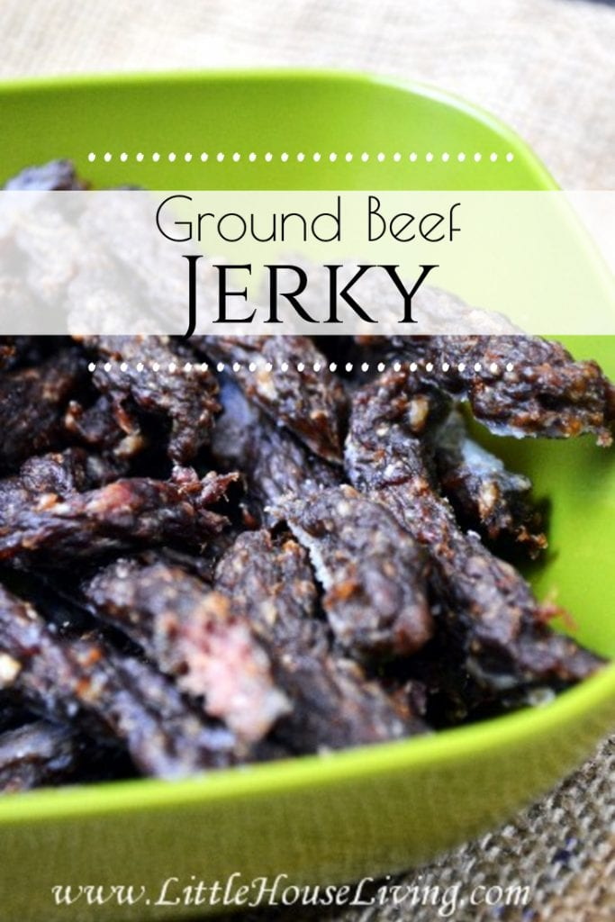 Follow this quick and easy guide to making beef jerky at home. This ground beef jerky recipe is much more inexpensive than the kind from the store and can be made with all of your favorite flavors and none of the hard to pronounce ingredients! #groundbeefjerkyrecipe #beefjerky #diybeefjerky #makeyourown #homemade