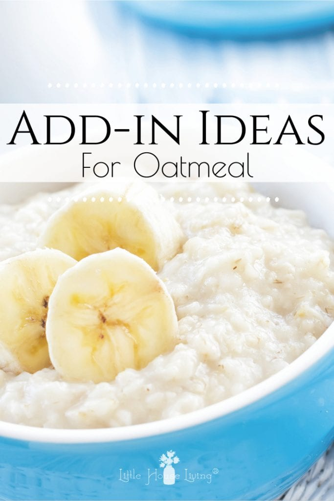 Kick your breakfast up a notch with these delicious oatmeal add in ideas! 15 delicious ways to bring some variety to a healthy breakfast. #oatmeal #oatmealaddin #mixins #breakfast #variety #healthy