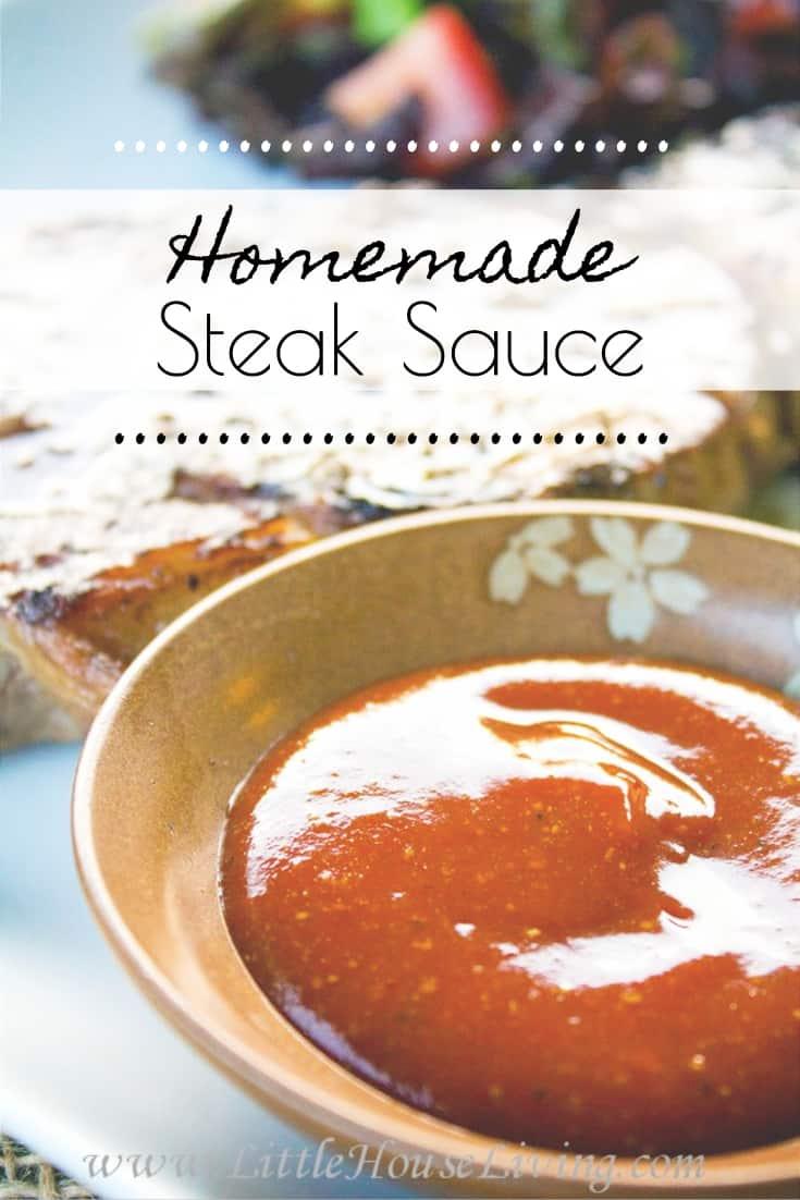 Homemade Steak Sauce Recipe